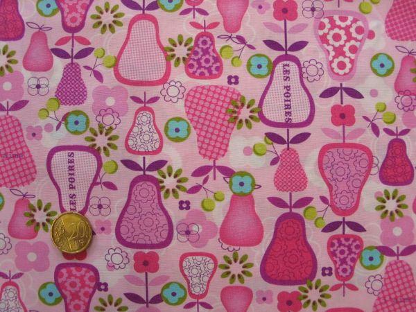 Hilco - Baumwollpopeline Perada, rosa, Reststück 76cm