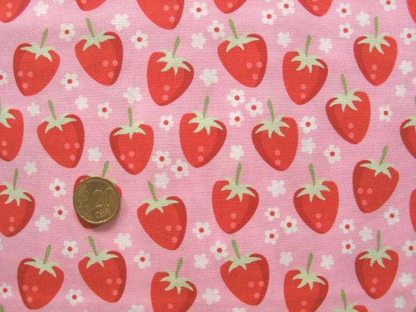 Hilco - Baumwollpopeline Fresh Fruits Cotton-2, rosa