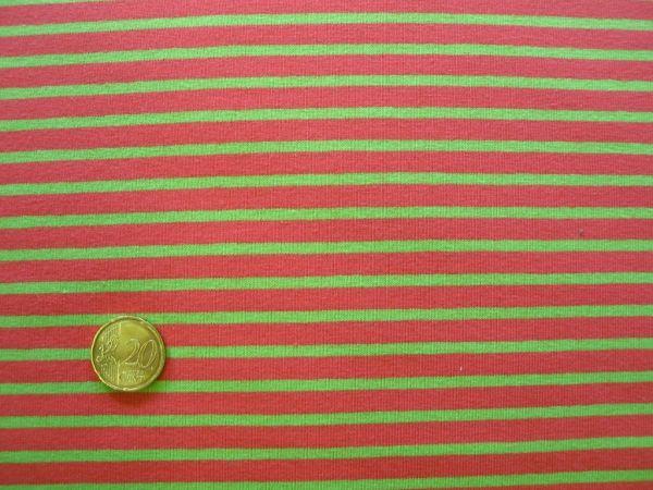 Hilco - Streifenjersey Campan, apfelgrün-hummer