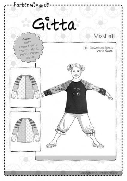Farbenmix - Mixshirt GITTA, Schnittmuster