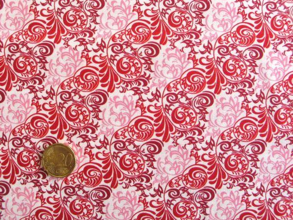 Hilco - Hilde Ornamentdruck, rot