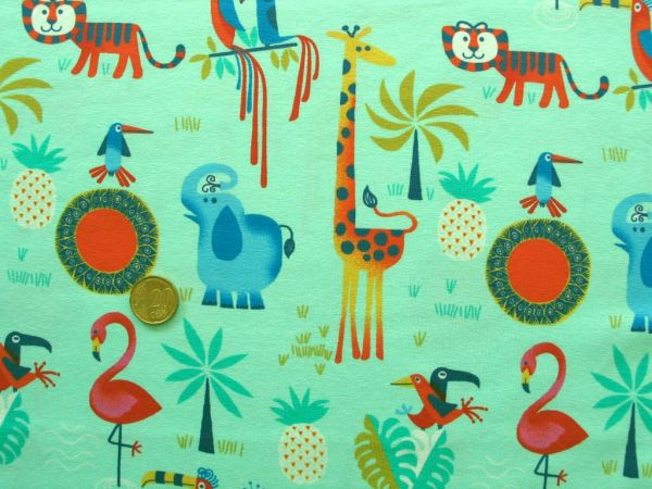 Hilco - Stretch-Jersey Shirt Safari, türkis