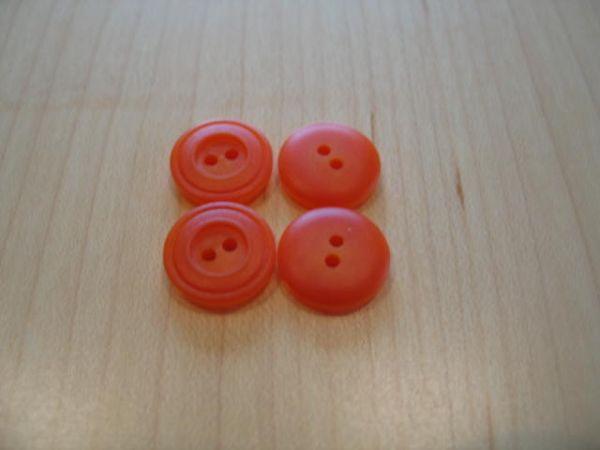 Knopf 2-Loch 15mm orange