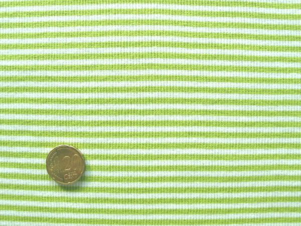 Hilco - Ringelbündchen, hellgrün-weiß