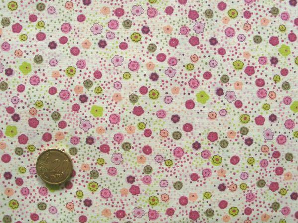 Hilco - Florencia Blumendruck, beige-rosa