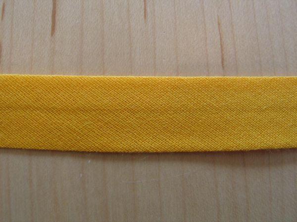 Baumwoll Schrägband 40/20mm gelb