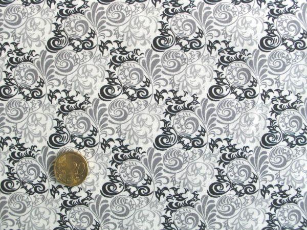 Hilco - Hilde Ornamentdruck, grau