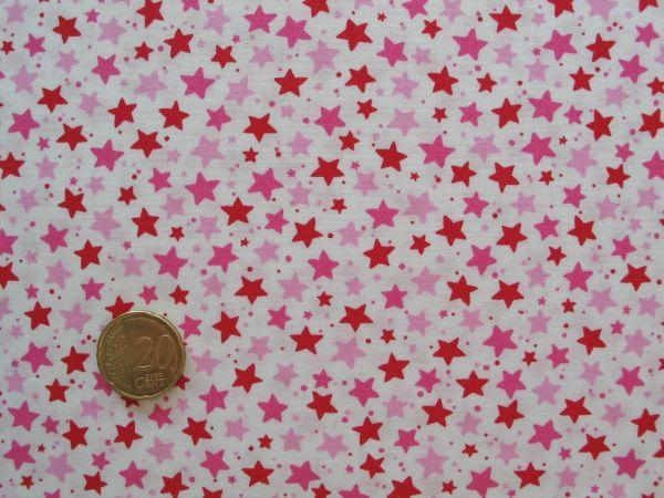 Hilco - Baumwollpopeline Little Stella, rot