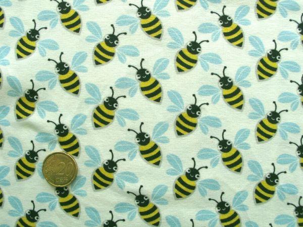 Hamburger Liebe - Stretchjersey Queenie Bee, weiß
