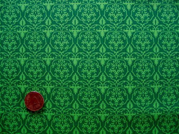 Hilco - Hilde Ornamentdruck, dunkelgrün-apfelgrün