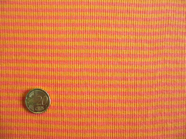 Hilco - Ringelbündchen, orange-hellorange, Stoffstück