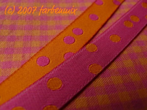 Farbenmix - Punkteband, pink-orange