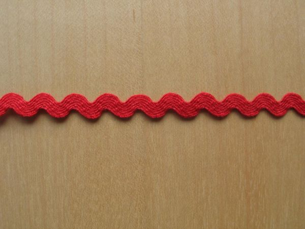 Zackenlitze, 10mm, rot
