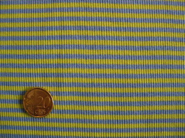 Hilco - Ringelbündchen, apfelgrün-jeansblau