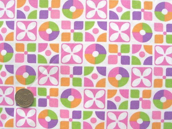 Hilco - Baumwollpopeline Bahia Retro, rosa