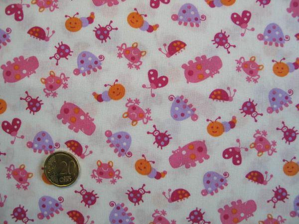 Hilco - Baumwollpopeline Petite Chenille, rosa
