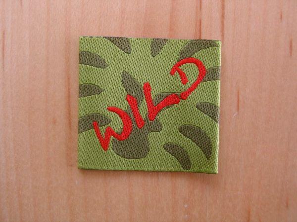 Farbenmix - Etikett mit WILD, grün