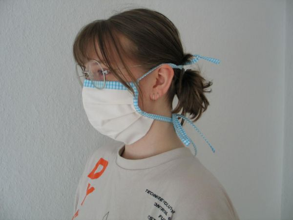 MINETI - Gesichtsmaske mit Falten, beige