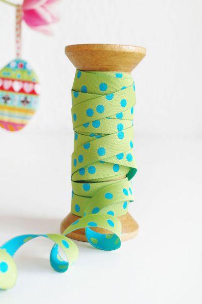 Farbenmix - Punkteband, grün-türkis