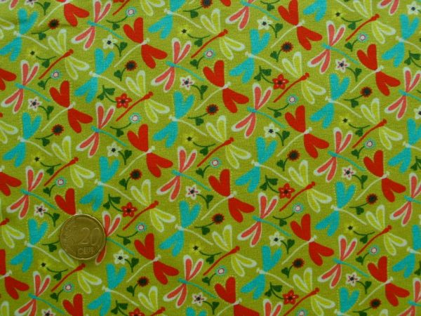 Hilco - Stretch-Jersey Libelule, grün
