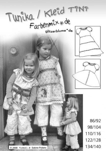 Farbenmix - Tunika/Kleid TINI, Schnittmuster