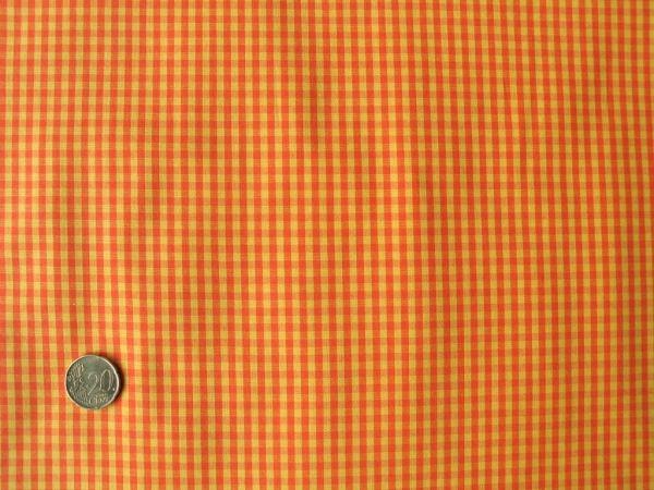 Hilco - Vichy Karo, orange-gelb, Reststück 70cm