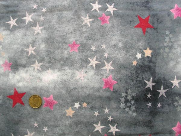 Hilco - Stretch-Sweat Trouble Star, grau-pink
