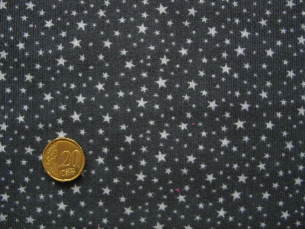 Hilco - Babycord Star Cord, anthrazit-hellgrau