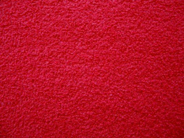Hilco - Winterfrottee Uni, rot, Reststück 101cm