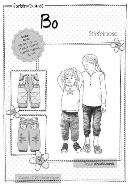 Farbenmix - BO Stiefelhose, Schnittmuster