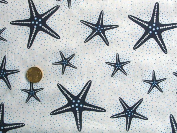 Hilco - Baumwollpopeline Etoile de Mer, weiß