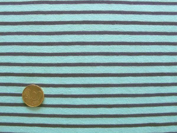 Hilco - Streifenjersey Campan, hellblau-pflaume