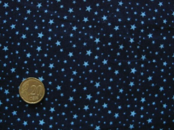 Hilco - Babycord Star Cord, dunkelblau-helltürkis