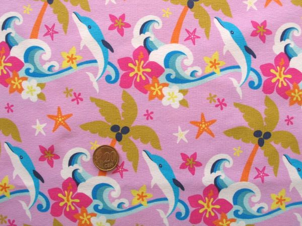 Hilco - Stretch-Jersey Little Delphins, rosa