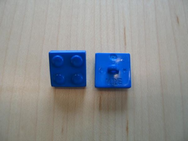 Legostein 16mm blau