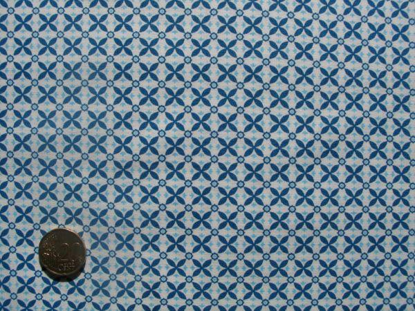 Hilco - Hilde Mini Blümchen, blau-weiß, Reststück 42cm