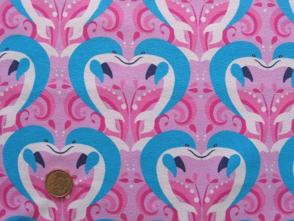 Hilco - Stretch-Jersey Delphin Love, rosa