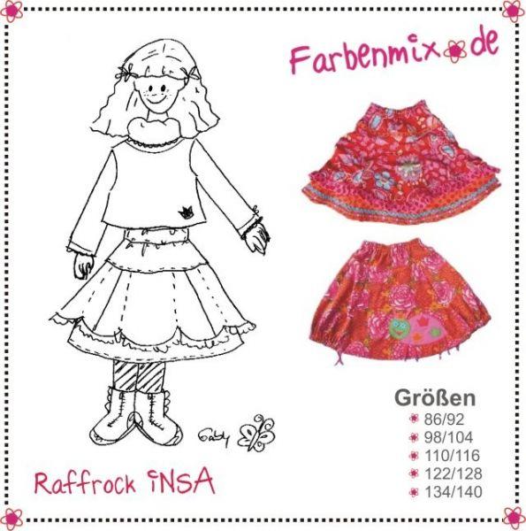 Farbenmix - Raffrock Insa , Schnittmuster