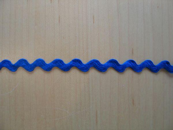 Zackenlitze, 10mm, royalblau