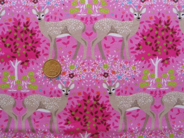 Hilco - Stretch-Sweat Winter Deer, pink