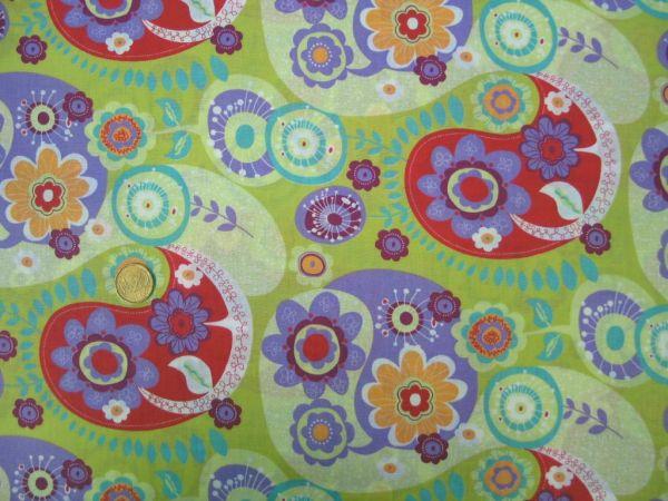 Hilco - Paisley Baumwolldruck Luana, grün