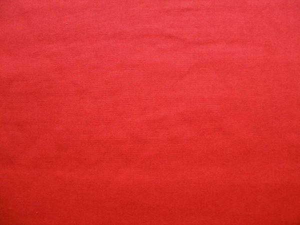 Hilco - Baumwollpopeline uni Pop, tomatenrot