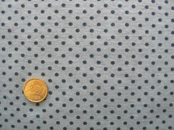 Hilco - Stretch-Jersey Pintas, grau-schwarz, Reststück 70cm