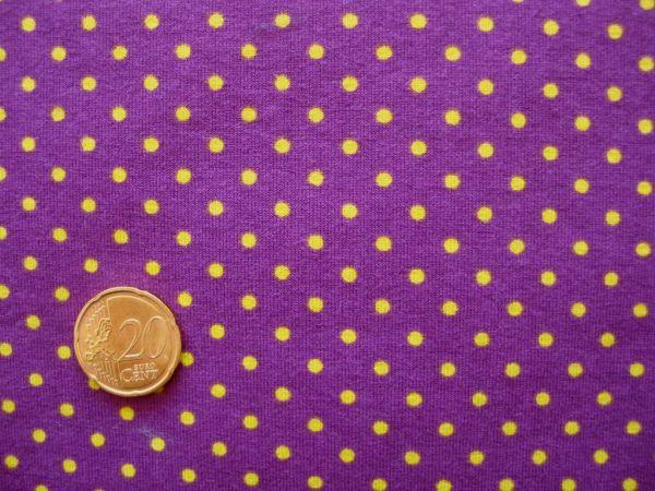 Hilco - Stretch-Jersey Pintas, lila-gelb