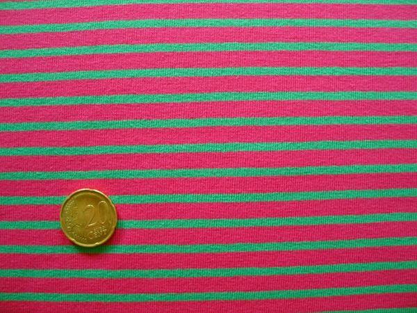 Hilco - Streifenjersey Campan, pink-grün