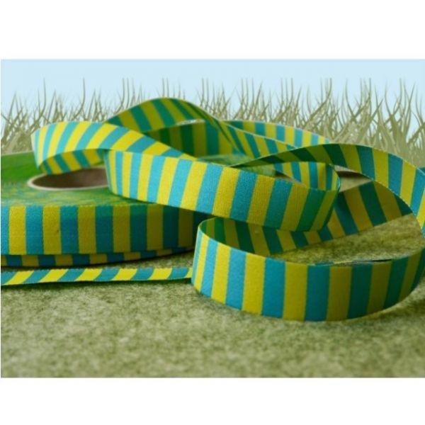 Farbenmix - Ringelband, gelb-türkis